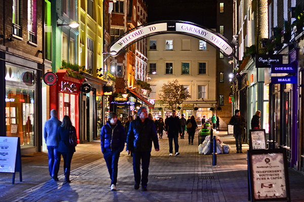 Best London Shopping Areas: Carnaby Street