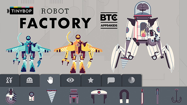 Fun Apps for Kids on the Plane: Robot Factory